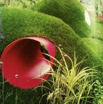 tubes in grass